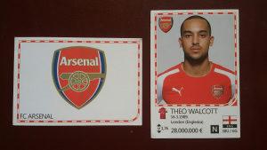 Slicice Fudbaleri - Walcott i grb Arsenal