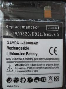 Baterija za LG Nexus 5