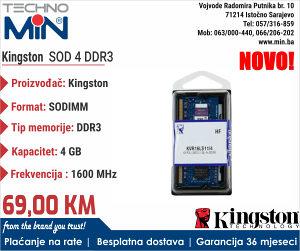 Kingston SOD 4 GB DDR3 1600 MHz