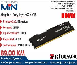 Kingston Fury HyperX 4 GB DDR4 2400 MHz