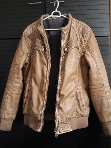 Muska kozna jakna futrovana