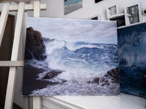 Umjetnička slika: Pejzaž. Akril na platnu