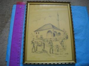 Umjetnička slika - Džamija u Zamlazu