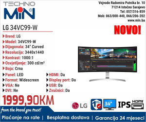 """LG 34VC99-W 34"""" IPS Curved"""