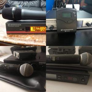 Mikrofoni Shure slx,ulx, Sennheiser g3