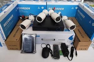 Video Nadzor 4 x Kamera Full HD + DVR Snimač