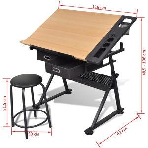 Radni sto za crtanje i stolica