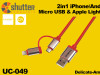 2in1 iPhone/Android USB Data Cable