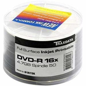 Traxdata DVD Full White Printable DVD-R 8x