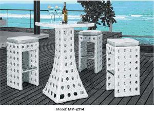 Set barski stol i stolice ratan 2114