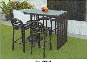 Set barski stol i stolice ratan 2115