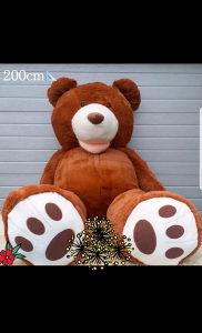 Veliki meki plisani medo/medvjed 180/ 200 cm NOVOO