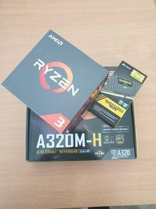 COMBO KIT ,RYZEN 3 1200 , 8GB DDR4 3000MHZ , A320M
