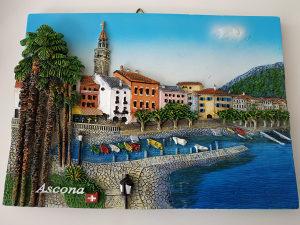 Swiss Ascona kamena reljef slika