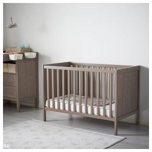 IKEA 140x70 komplet (krevet + dušek + dostava) sivi