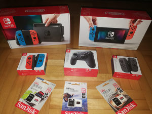 Nintendo Switch (Grey Neon Blue and Red)