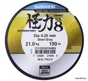 Shimano Kairiki 150 m _ 0,28 mm Grey [14505]