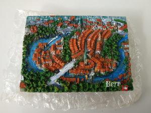 Bern Zeitglocke mini magnet kamena reljef slika