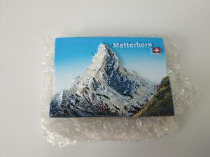 Swiss matterhorn mini magnet kamena reljef slika