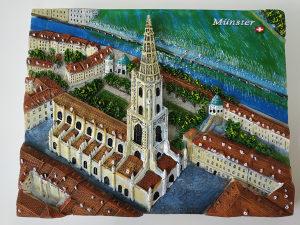 Bern Münster kamena reljef slika veća dimenzija
