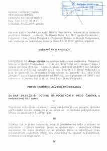 Prodaja kuce i njiva 6.klase Donji Podgradci