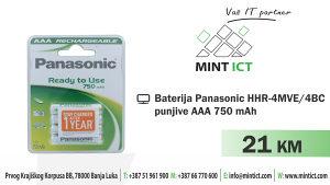 Baterija Panasonic HHR-4MVE/4BC punjive AAA 750 mAh