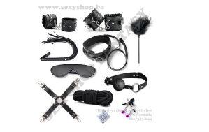 BDSM Sado Mazo Set 10 Black   SEX SHOP FANTASY