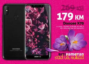 Doogee X70   2gb+16gb   8 mpx (+5) + 5 mpx   4000 mAh