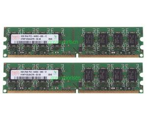 NOV RAM za PC 2 X 2GB Hynix PC2-6400 DDR2 800MHz