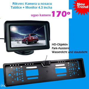 Rikverc Kamera u Nosacu Tablice sa LCD Monitorom
