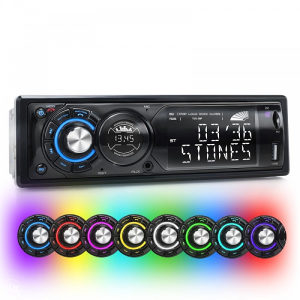 Auto Radio 1 DIN, BT, MP3 USB 4x60W ,7 Boja