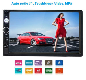 Auto Radio 2 DIN , Video, MP5, MP3 , USB, Touchscreen