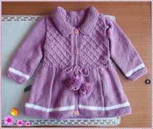 Pleteni mantil-jakna za bebe