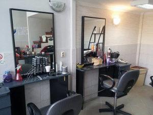 Pult sa ogledalom i osloncem za noge salon Ambience
