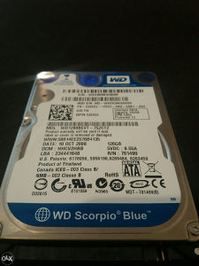 HDD WD 120GB ZA LAPTOP