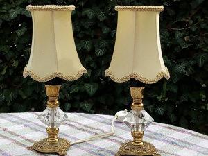Art Deco Lampe sa Abazurima od Satena