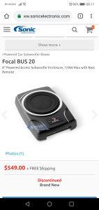 Focal Sub 20 Bus aktivni woofer