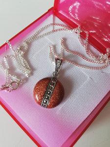 Srebrena ogrlica, unikatna i prelijepa