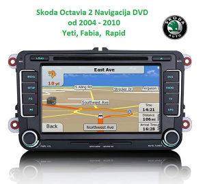 "Skoda Oktavija 2, Superb Columbus , 7"" radio GPS, DVD"