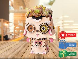 Drvene 3D puzle za djecu i odrasle Maca puzzle