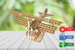 Drvene 3D puzle za djecu i odrasle Avion puzzle