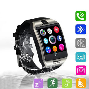 Smartwatch pametni sat Q18 smart watch crni telefon