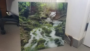 slika slike na kaljenom staklu 50x50