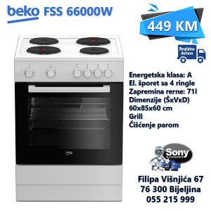 Štednjak BEKO FSS 66000 W