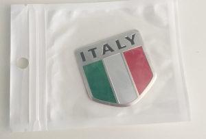 Alu Plocica Italy znak italija za auto alfa,fiat,abarth