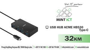 USB HUB ACME HB530 USB - type - C