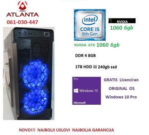 i5 8400/GTX 1060 6GB/ 8GB/1TB HDD Gamer PC