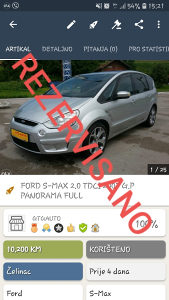FORD S-MAX 2.0 TDCI 2007 G.P PANORAMA FULL