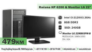 "Računar HP 6200 & Monitor LG 22"""