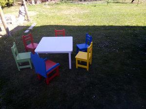 Djecije stolice i stolovi